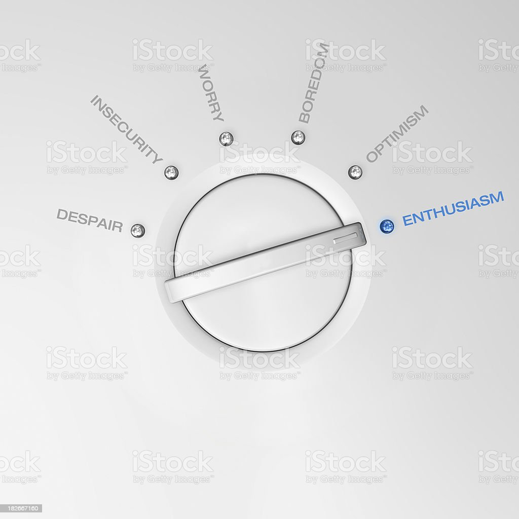 Enthusiasm scale. stock photo