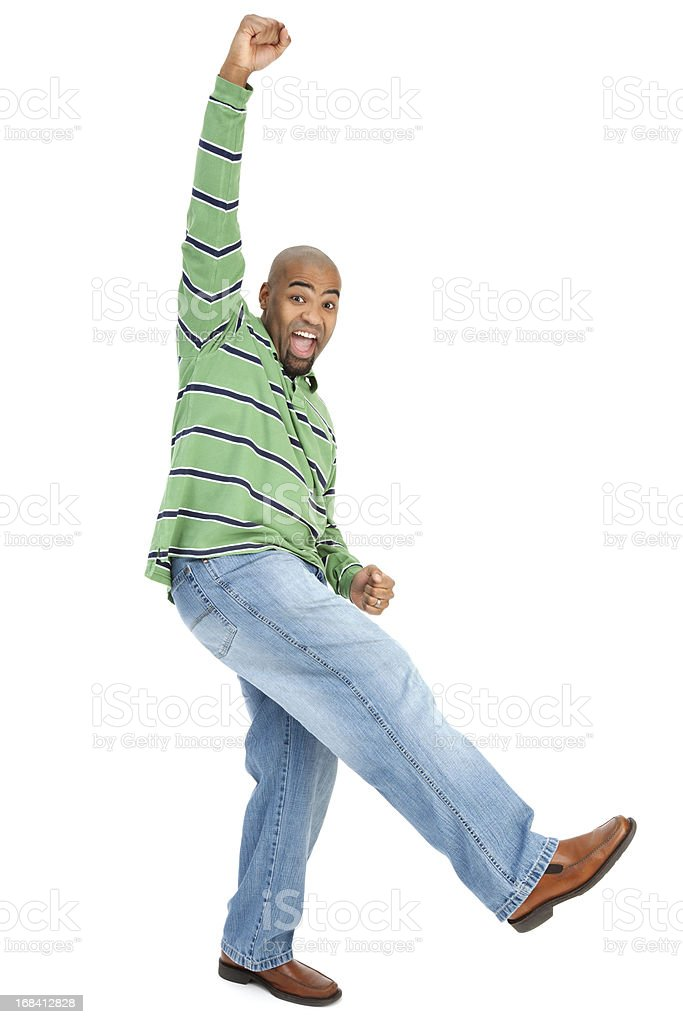 Enthusiastic African American Man royalty-free stock photo