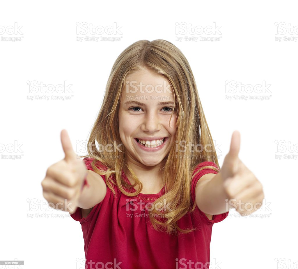 Enthusiastic approval from this precocious princess! royalty-free stock photo