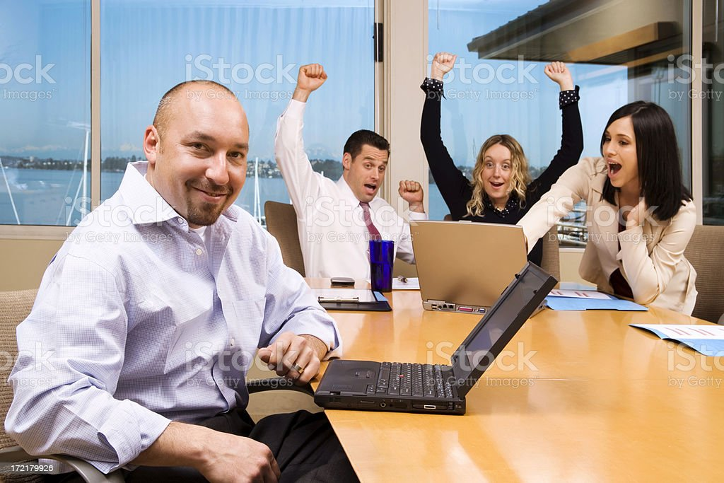 Enthusiastic Business Team royalty-free stock photo