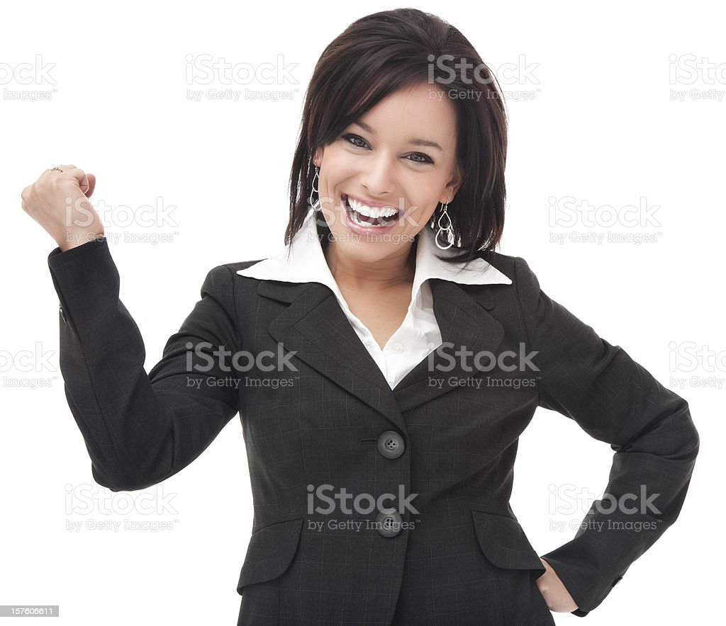 Enthusiastic Businesswoman royalty-free stock photo