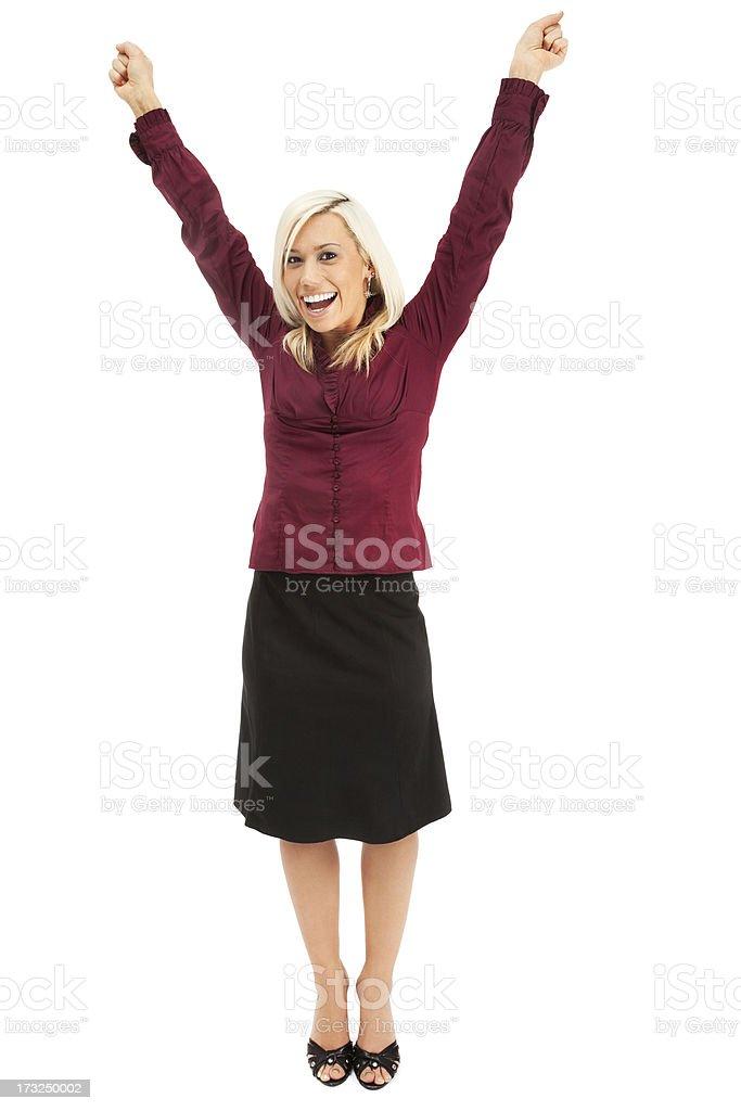 Enthusiastic Businesswoman royalty-free stock photo
