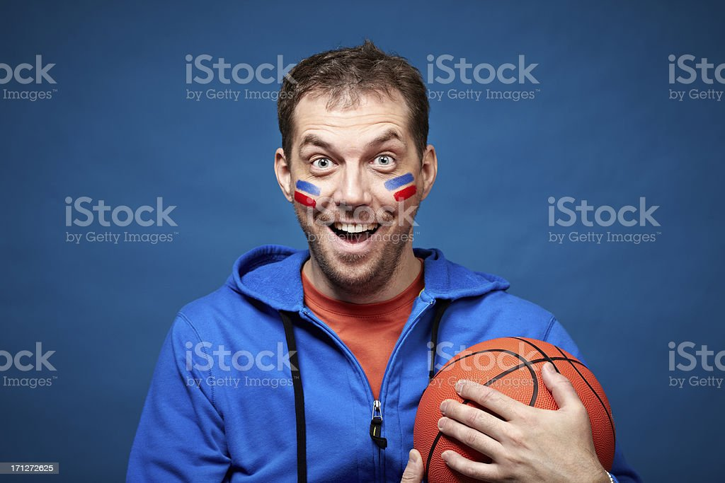Enthusiastic fan royalty-free stock photo