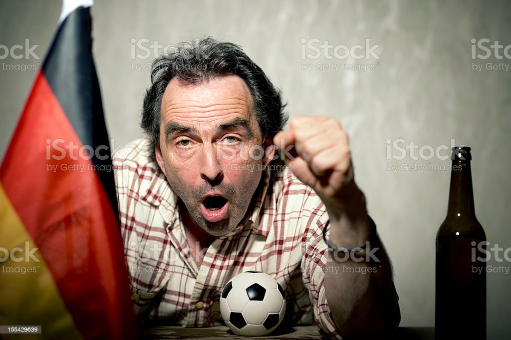 Enthusiastic German Soccer Fan FIFA Wold Cup stock photo