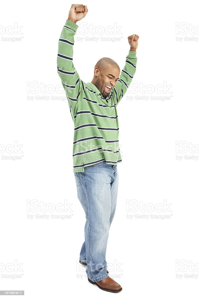 Enthusiastic Man royalty-free stock photo