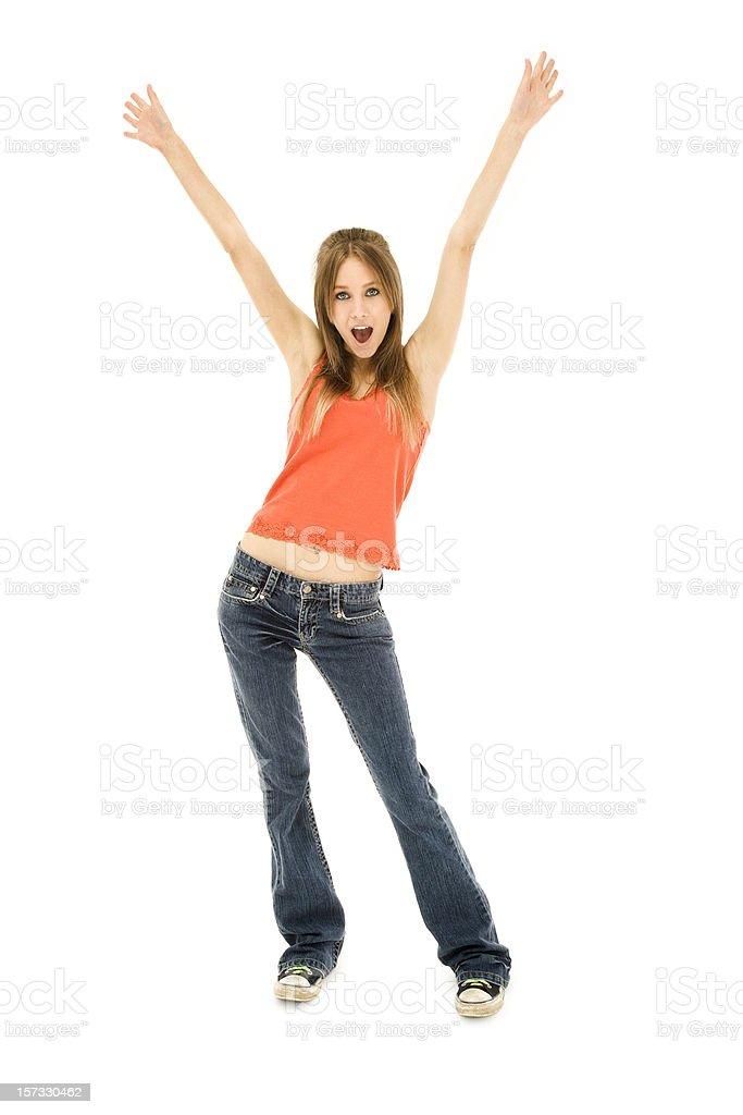 Enthusiastic Teen royalty-free stock photo