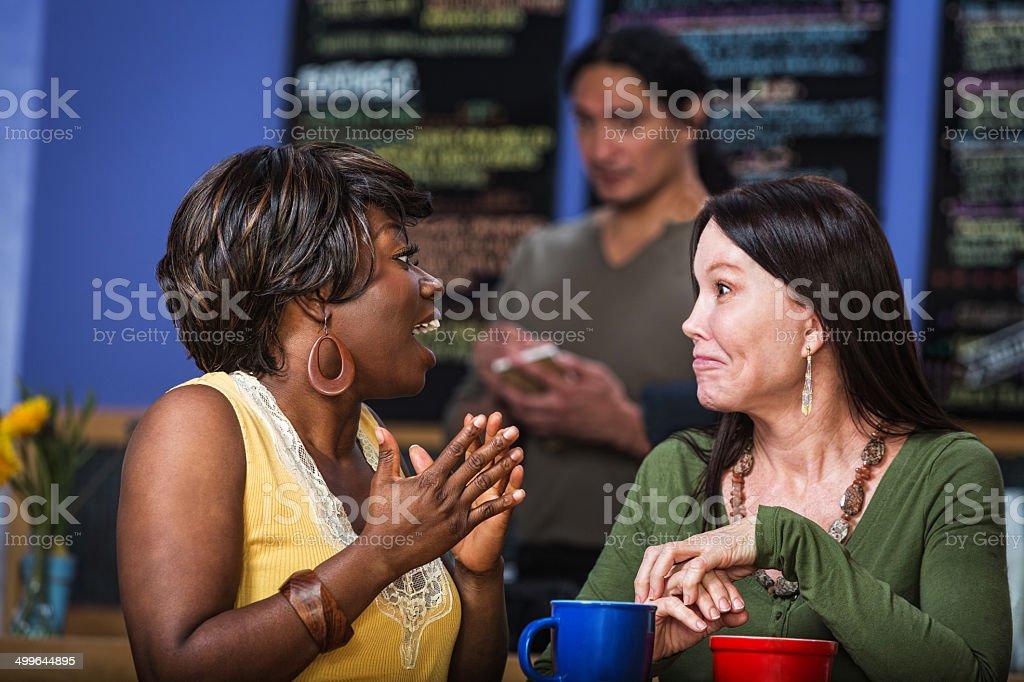 Enthusiastic Woman Talking stock photo