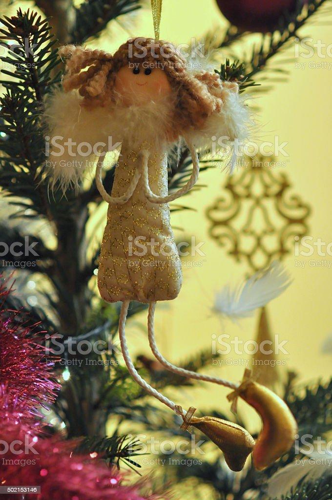 Entire angel - Christmas Tree decoration stock photo