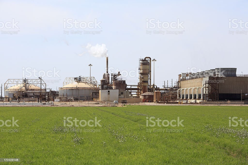 Entire Geothermal Plant In Harmony With Nature stock photo