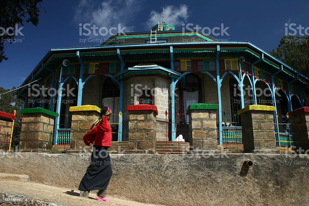 Entoto Maryam Church royalty-free stock photo