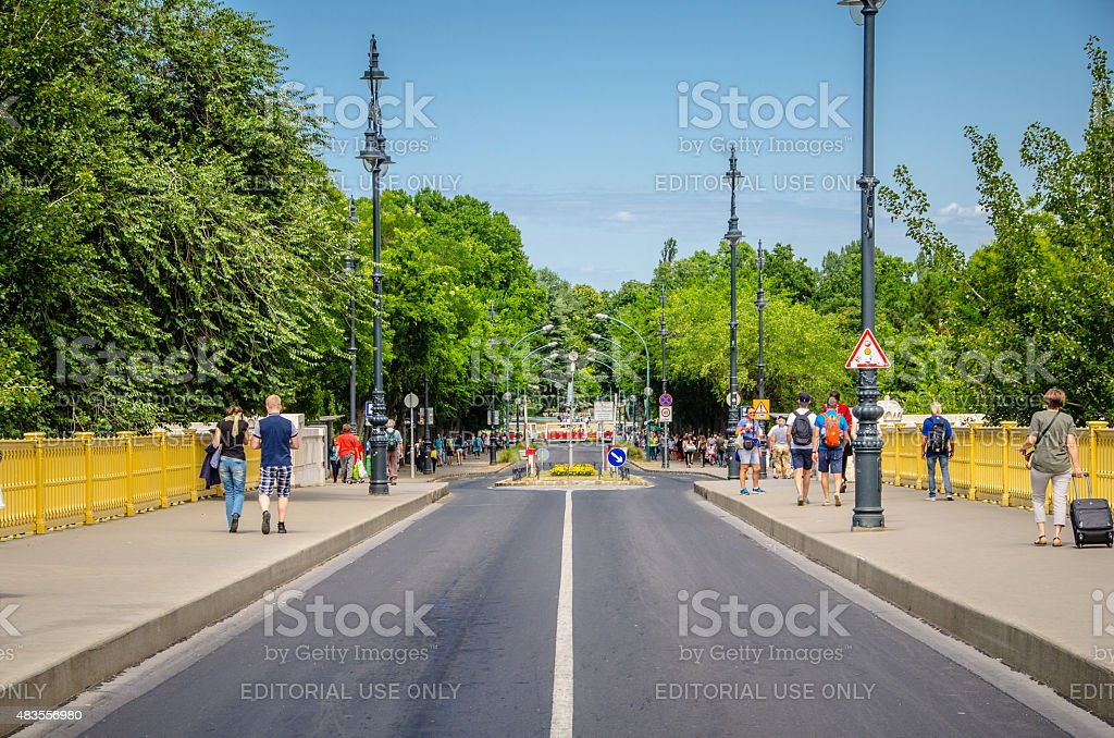 Entrace to Margaret Island. stock photo