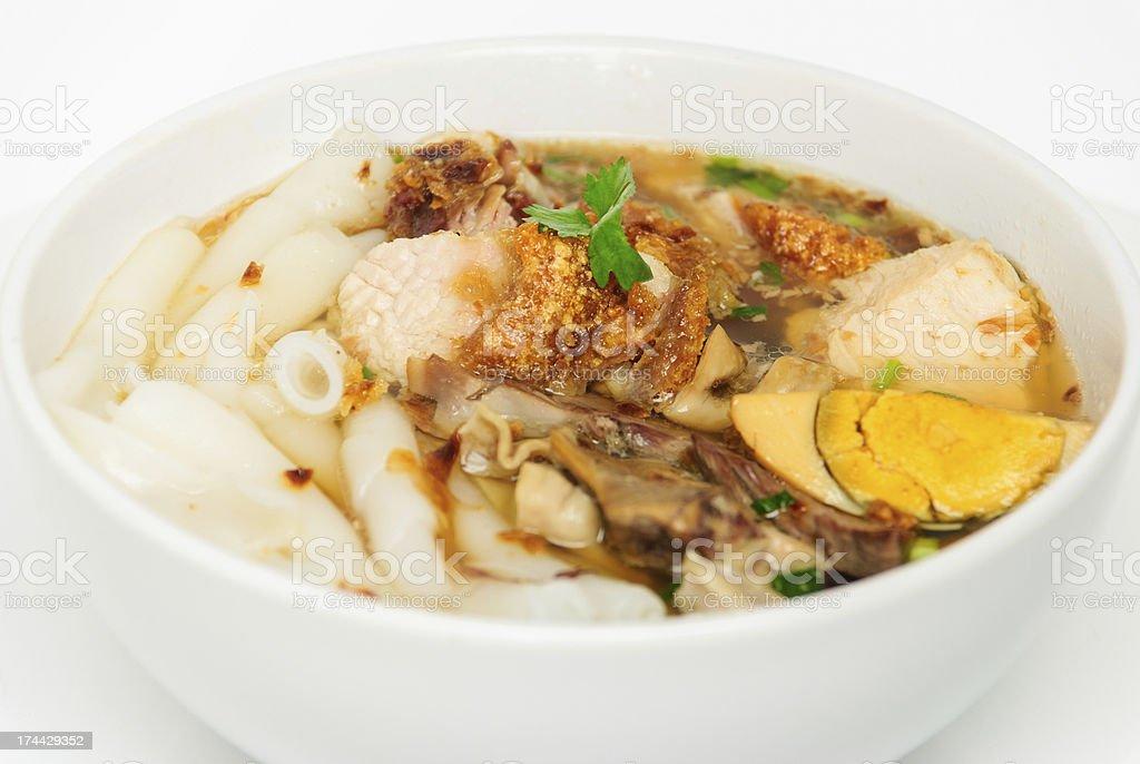 entrails pig noodles stock photo
