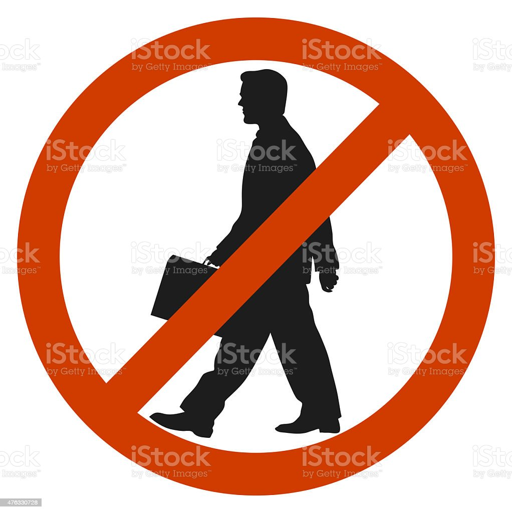 entrance and access is denied to men. sign symbol. stock photo