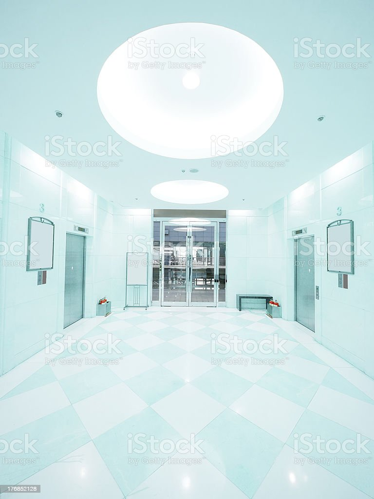 Entrance and elevator royalty-free stock photo