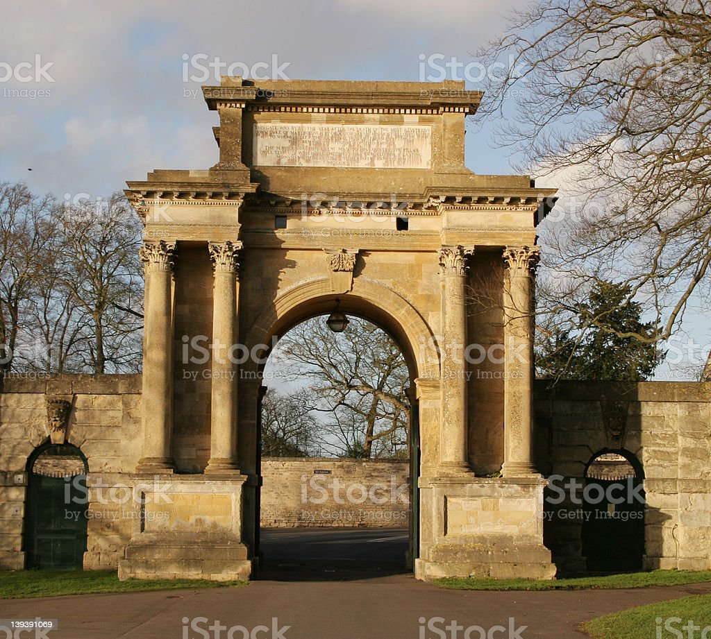 Entrance archway stock photo