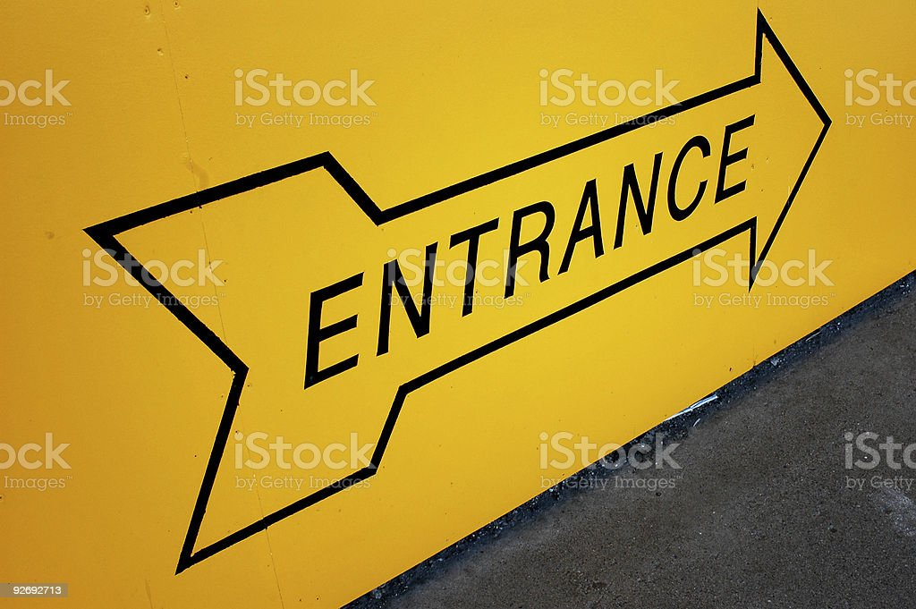 Entrance Arrow Pointing royalty-free stock photo
