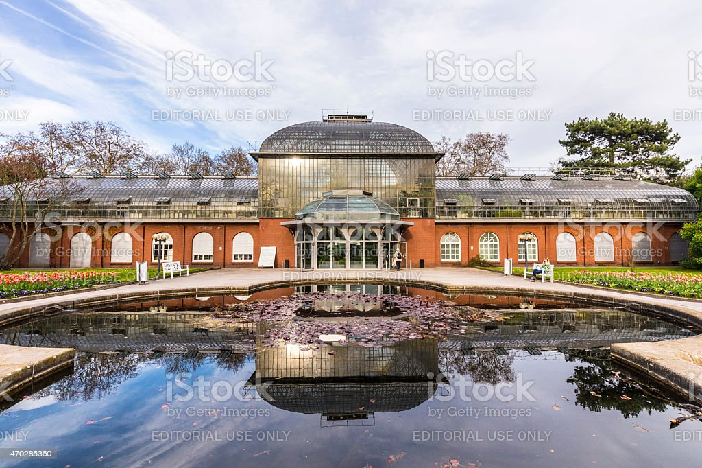 entrance building of the  palmengarten in Frankfurt, Germany stock photo