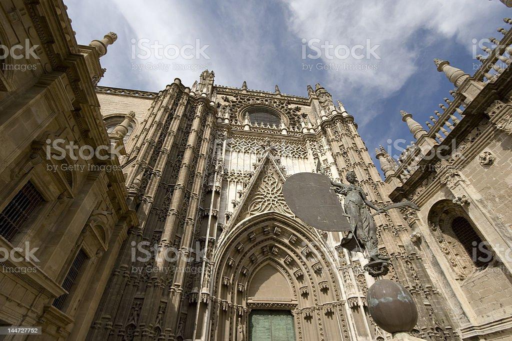 Entrance cathedral of Sevilla. royalty-free stock photo