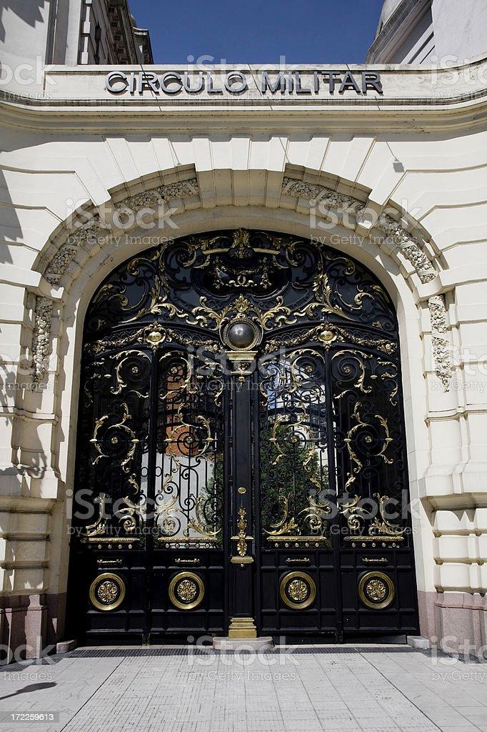 Entrance Door Circulo Militar Buenos Aires Argentina royalty-free stock photo