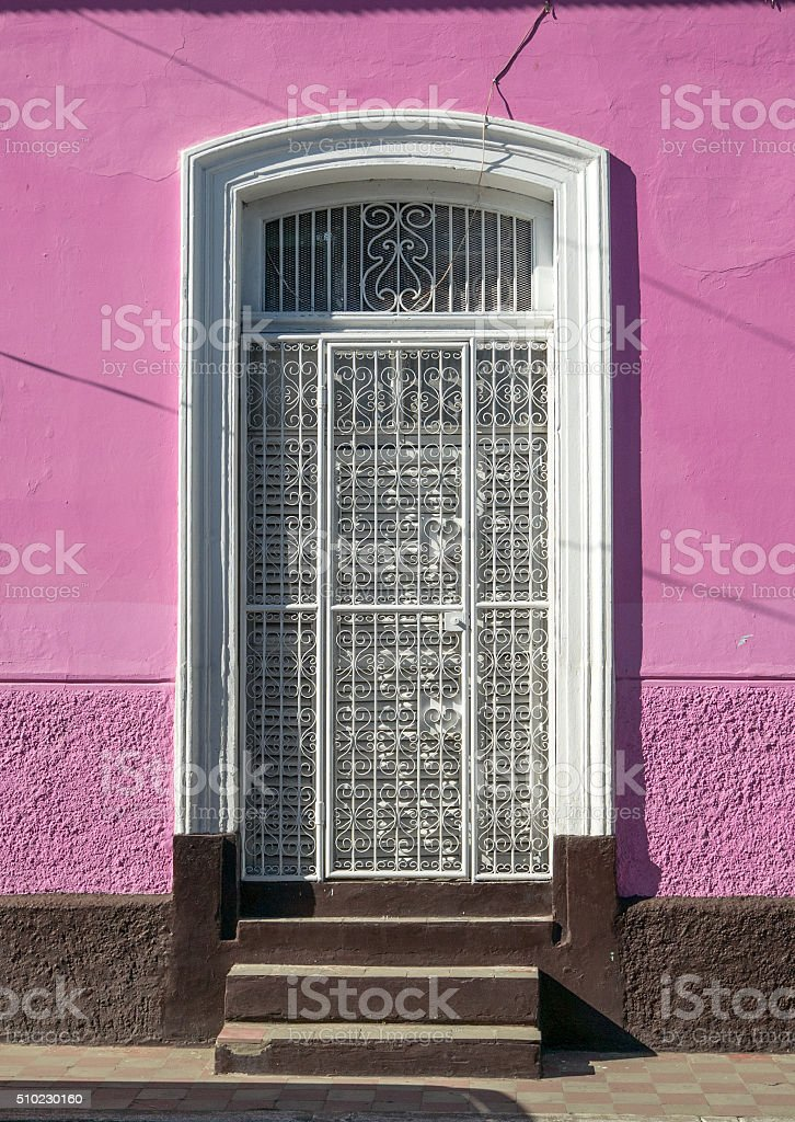 Entrance Door in Granada royalty-free stock photo