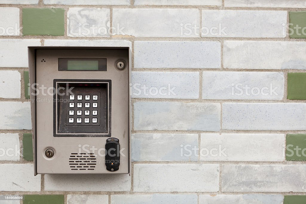 entrance door security keypad royalty-free stock photo