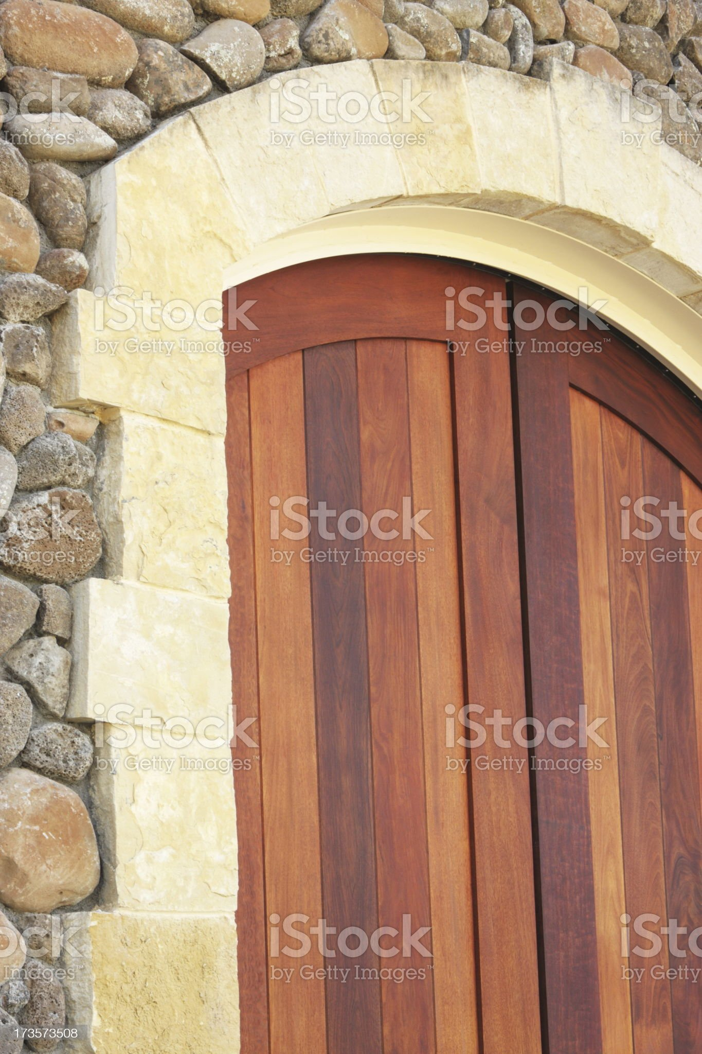 Entrance Door Stone Archway Architecture royalty-free stock photo