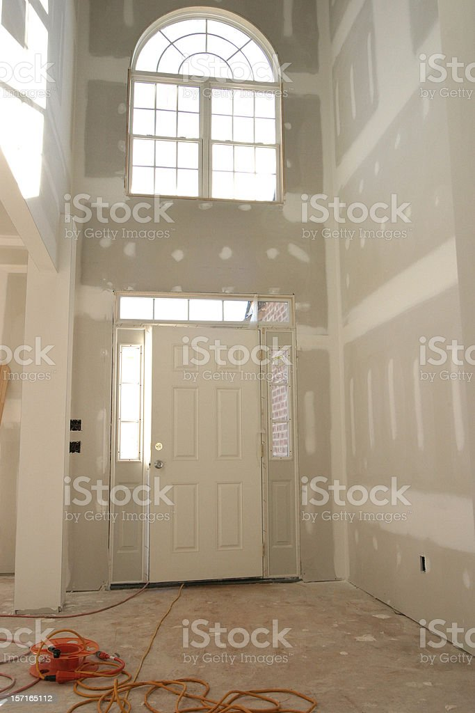 Entrance Doorway - Drywall royalty-free stock photo