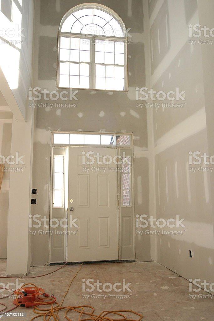 Entrance Doorway - Drywall stock photo