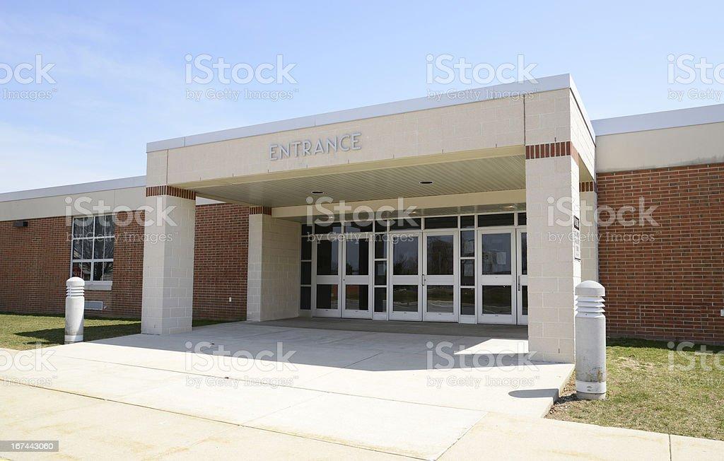 entrance for a modern school stock photo