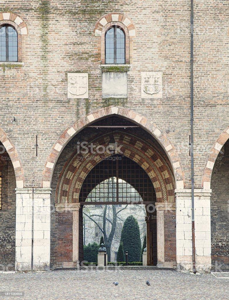 Entrance gate at Ducal Palace. Mantua-Italy. royalty-free stock photo