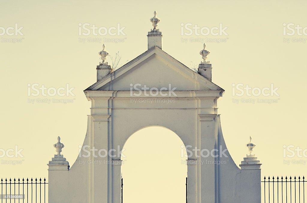 entrance gate cadiz royalty-free stock photo