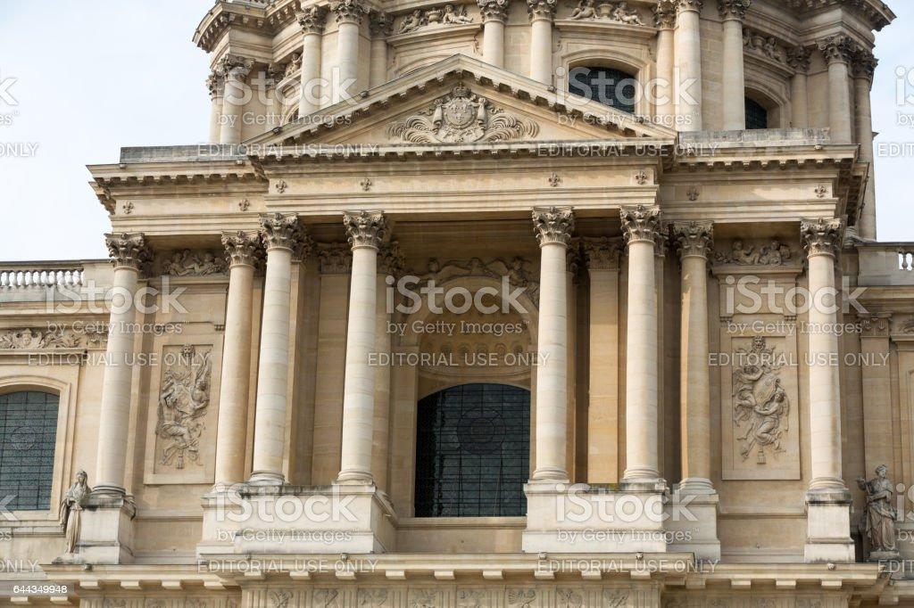 Entrance gate - Les Invalides complex, Paris France stock photo