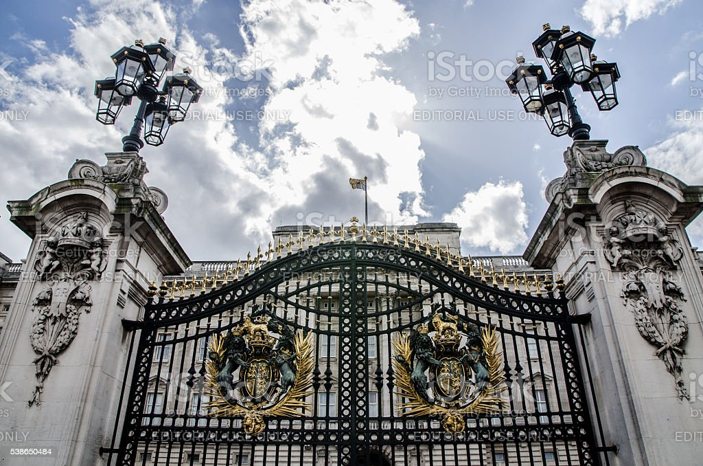 Entrance gate of  Buckingham Palace stock photo