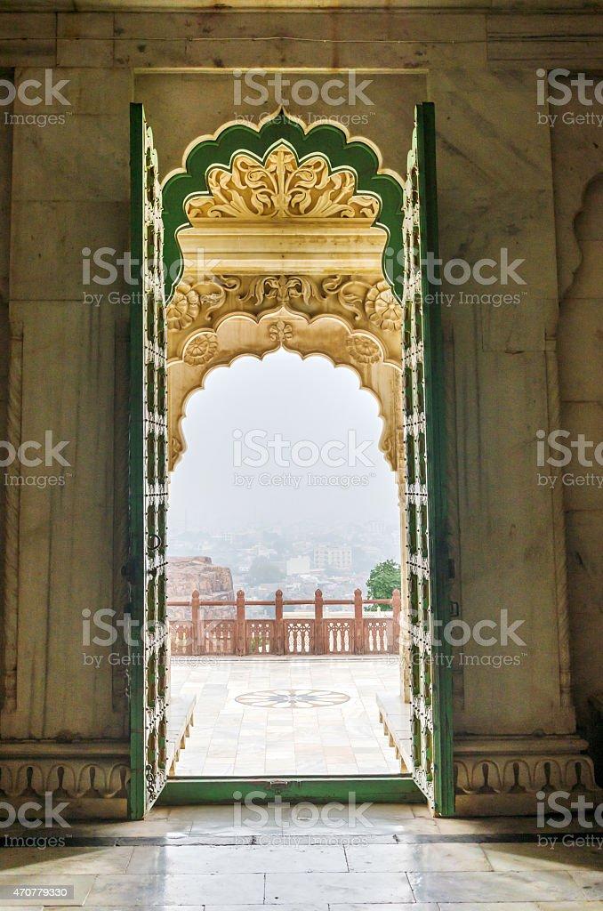 Entrance Gate of Jaswant Thada, Jodhpur, India stock photo