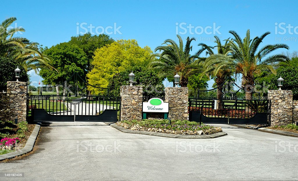 Entrance Gate stock photo