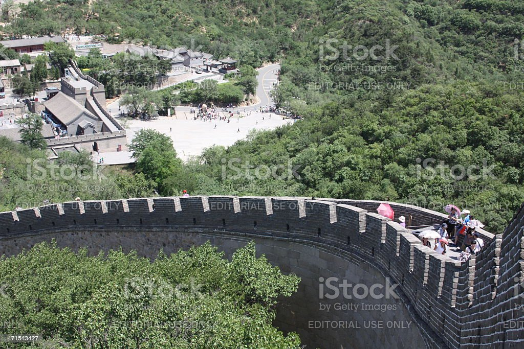 Entrance Gate The Great Wall of China, Beijing royalty-free stock photo