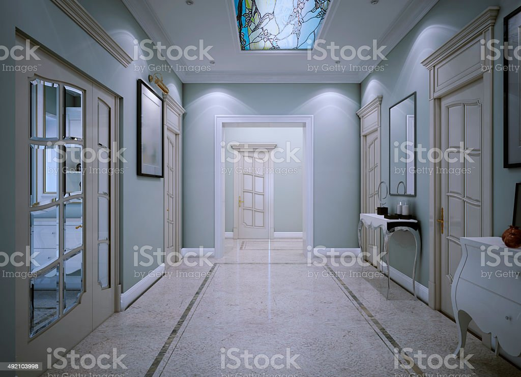 Entrance hall classic style stock photo