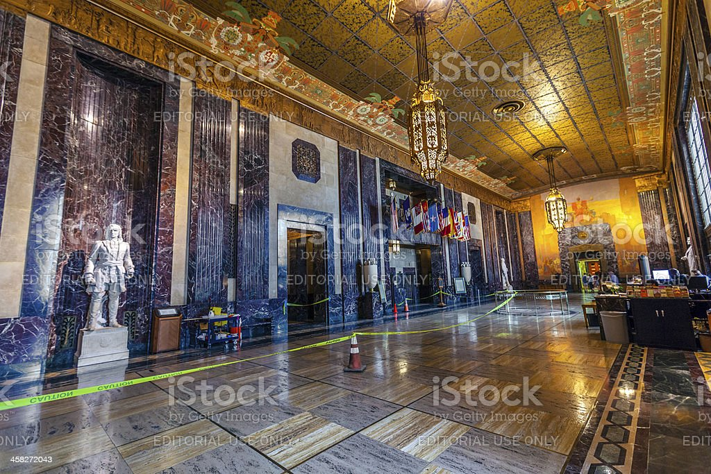 entrance hall in Louisiana State Capitol stock photo