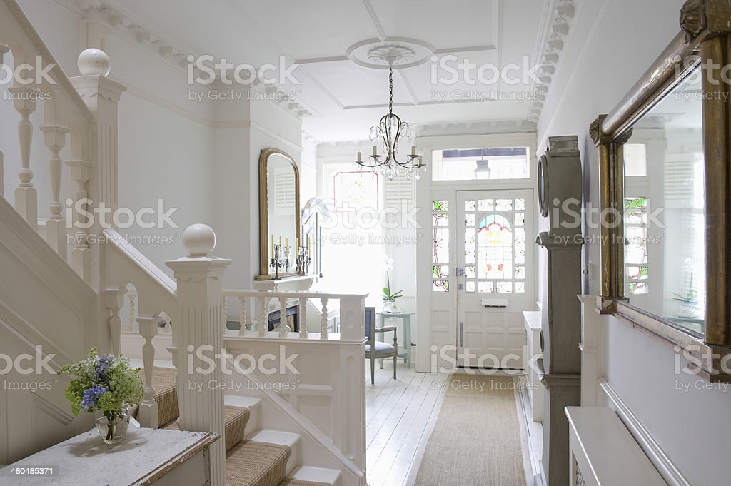 Entrance Hall Of House stock photo
