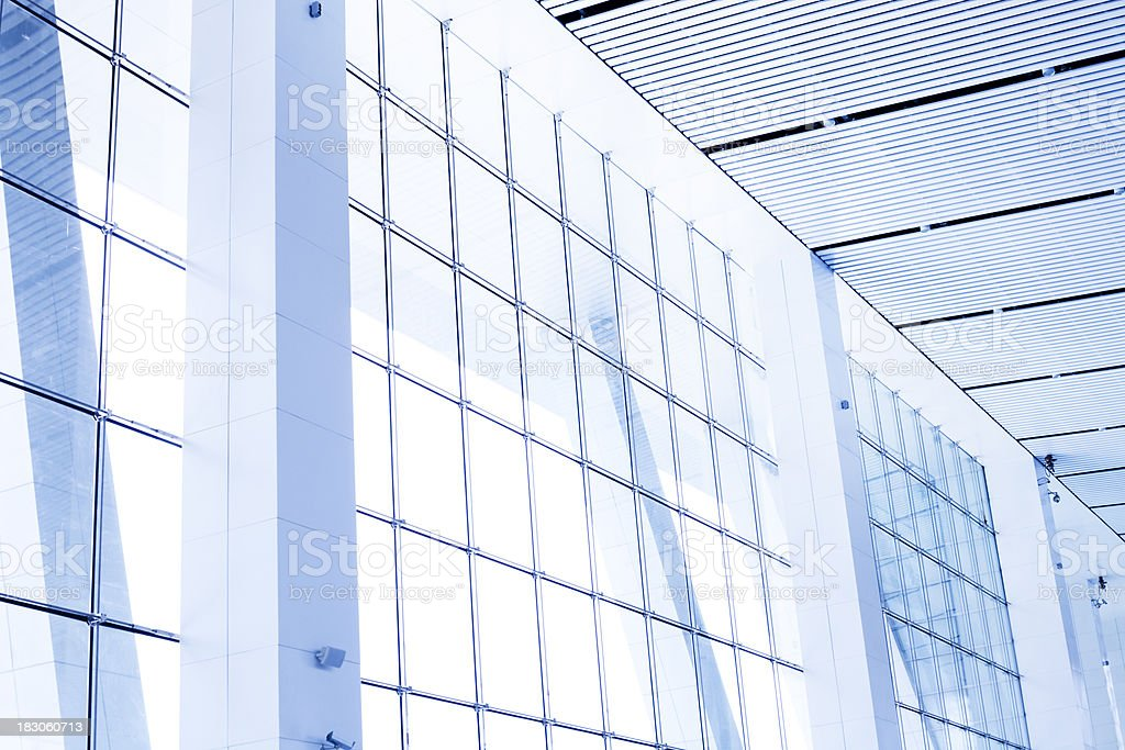 Entrance Hall of railway station stock photo