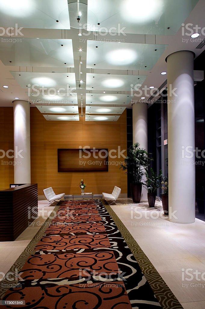entrance hallway luxury condo stock photo