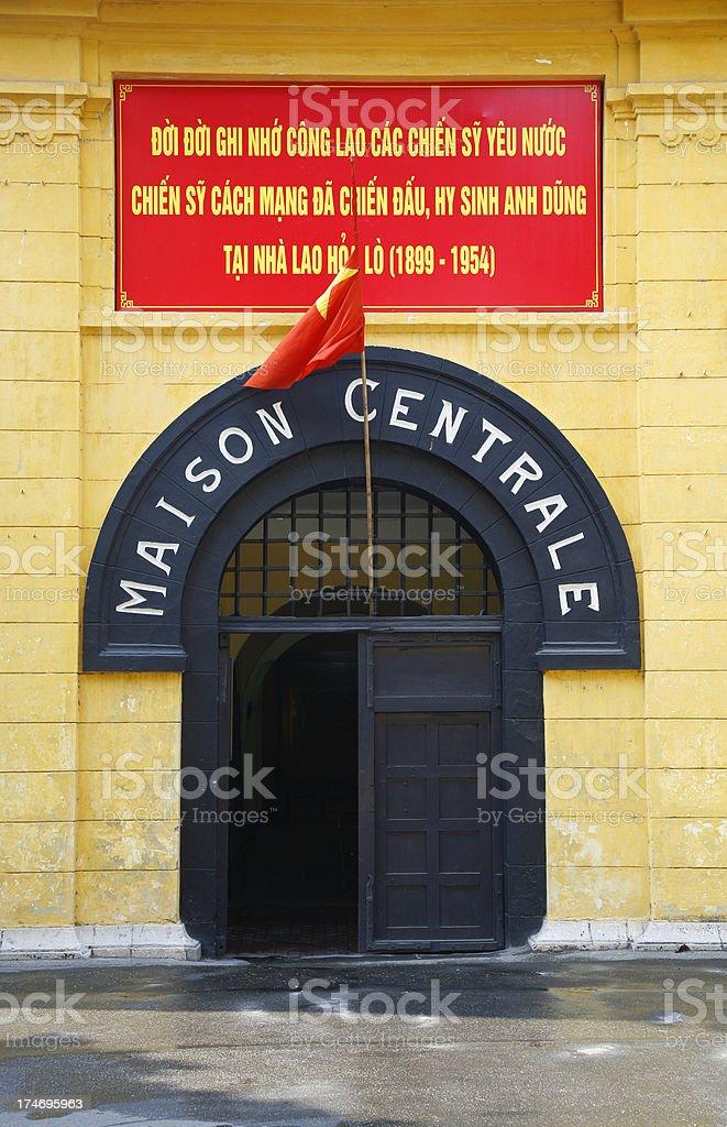 Entrance, Hanoi Hilton prison stock photo