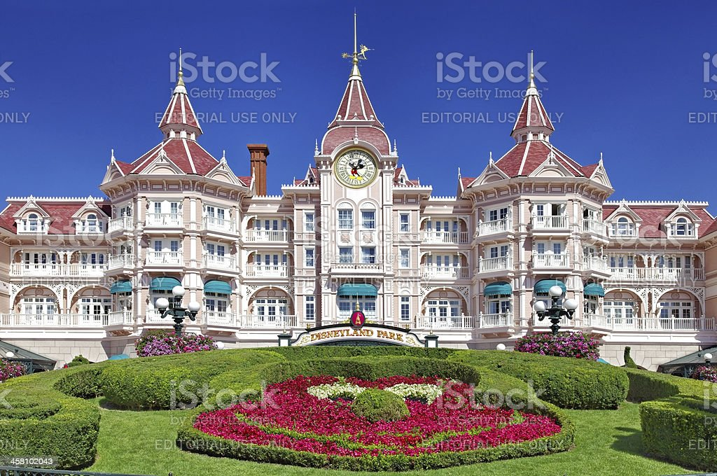 Entrance in Disneyland Paris stock photo