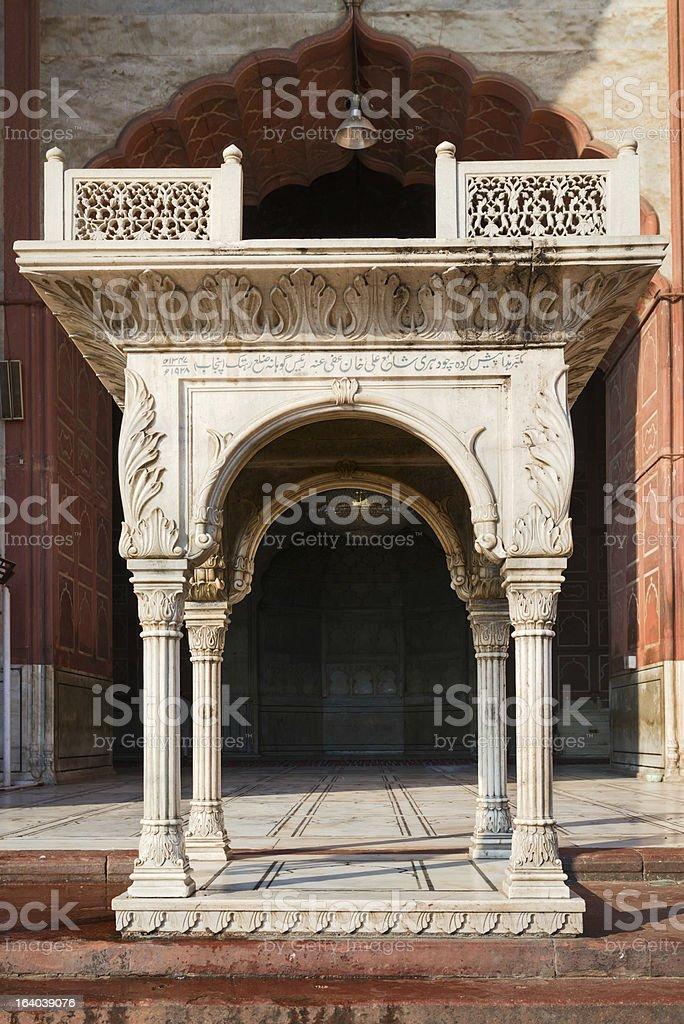 Entrance in Jama Masjid Mosque, Delhi, India royalty-free stock photo