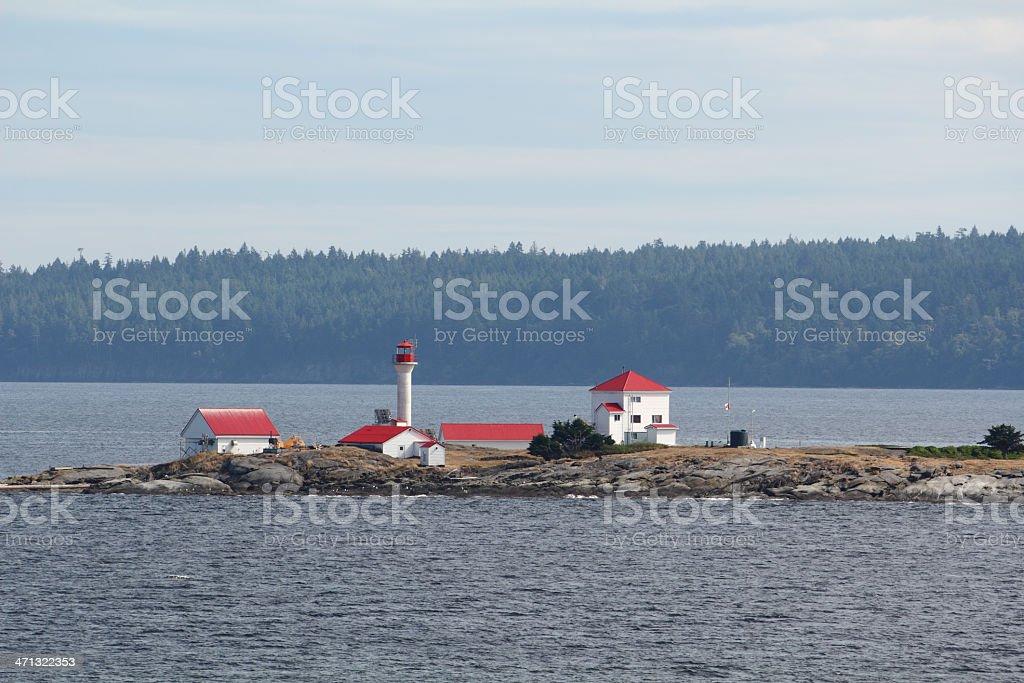 Entrance Island Lighthouse, Georgia Strait, Vancouver stock photo
