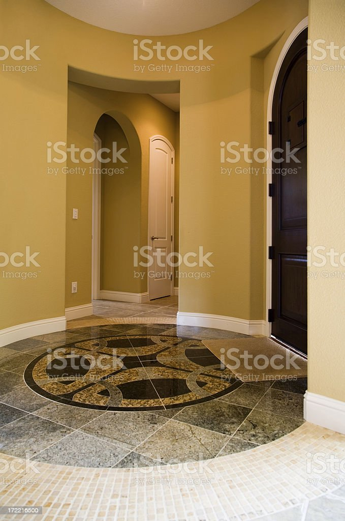 Entrance Lobby In Luxury Home royalty-free stock photo