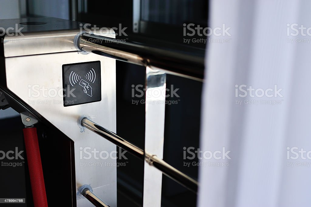 entrance machine in soft light stock photo