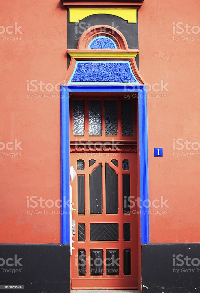 Entrance of a Colorful House stock photo