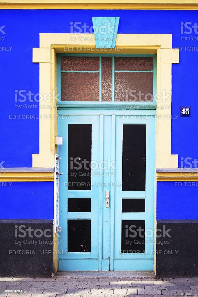 Entrance of a House, Magdeburg stock photo