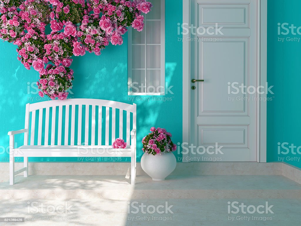 Entrance of a house. stock photo